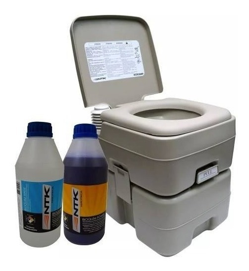 Baño Quimico Portátil 20 Litros + 2 Líquidos De Limpieza