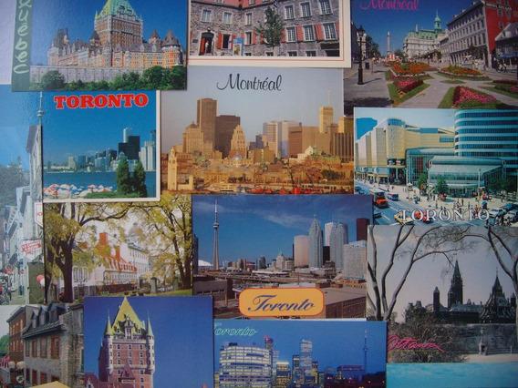 Lote De Postales De Canada - Son 18 Postales