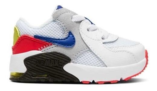 Tenis Padres Original Nike Air Max Excee Td 3101 Blanco Bebé