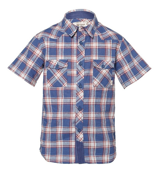 Camisa Niño Mountain Towns Short Sleeve Shirt Azul Lippi