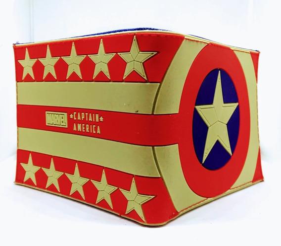 Billetera Cap America Escudo - Marvel - Purpura Funnyland