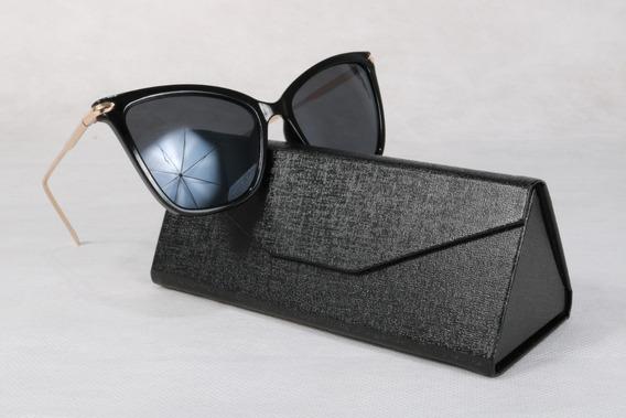 Óculos Preto Modelo Gatinho Coleção Fashion Estiloso