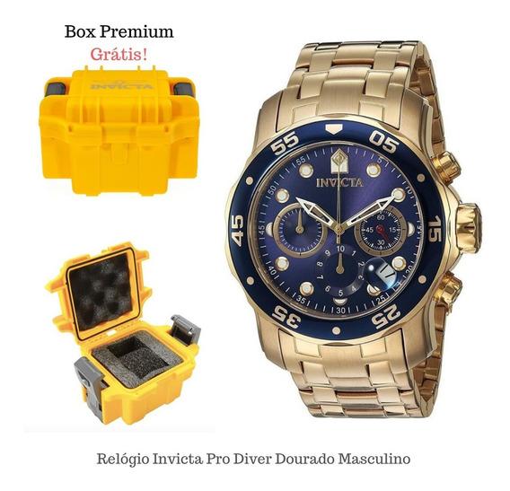 Relógio Invicta Pro Diver 0073 Dourado Com Box Colecionador