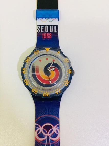 Relógio Swatch Scuba Edição Especial Olimpíadas 1988 Seoul