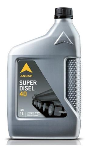 Aceite Ancap Superdisel 40 Envase 1 Litro Lubricante Diesel