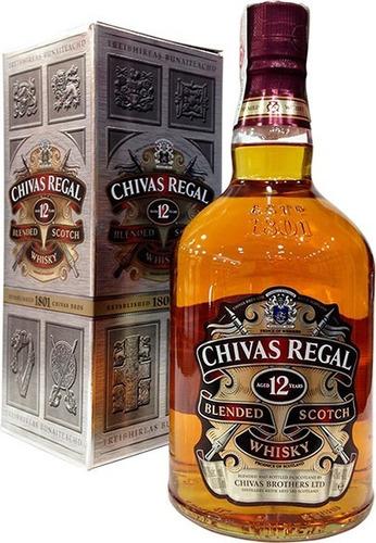 Imagen 1 de 3 de Whisky Chivas Regal 12 Años Litro