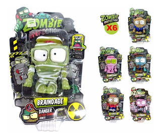 Set 6 Muñecos Zombie Infection Con Movimiento 11cm