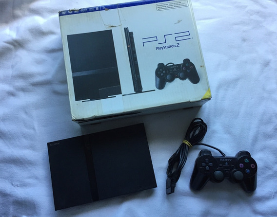 Playstation 2 Slim + 1 Controle Org + Memory Card + 5 Jogos