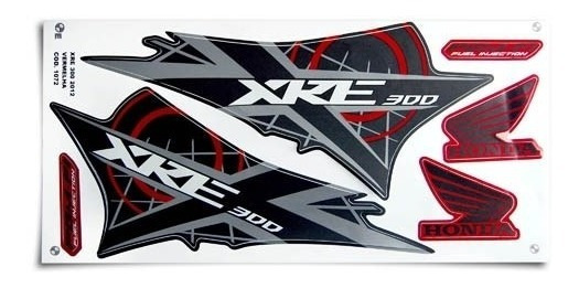 Kit Jogo Adesivo Honda Xre300 2012 Vermelho