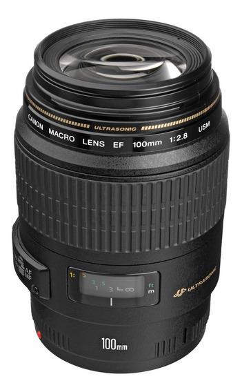 Lente Canon 100mm F/2.8 Macro Usm C/ Nf-e Garant 1 Ano Canon