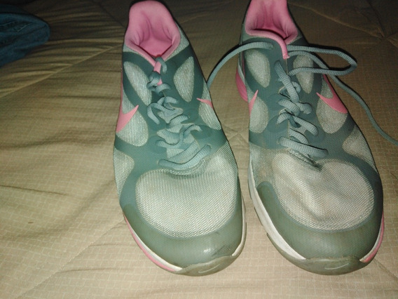 15 Zapatos Deportivos Gris Con Rosado