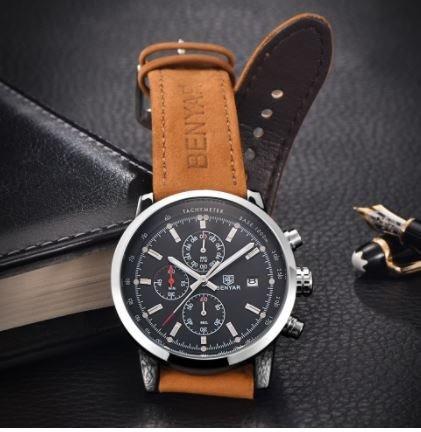 Relógio De Luxo Masculino Analógico Benyar By-5102m
