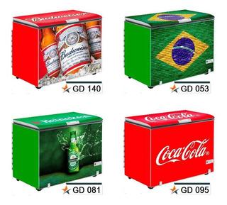 Adesivo Decorativo Envelopamento Freezer Frente E Laterais