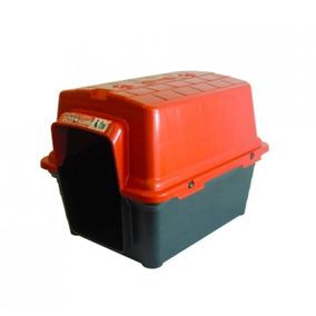 Casinha Para Cachorro Plastica 2 Em 1 N2 Vermelho