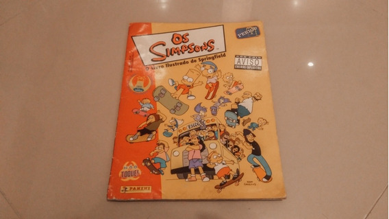 Simpsons Album De Figurinhas - Incompleto
