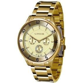 Relógio Lince Lmg4589l C2kx Multifunção Dourado Original