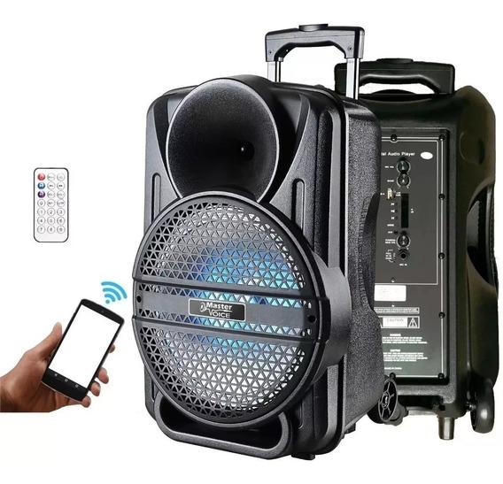 Caixa Som Ativa 12 Mv12 120w Master Voice Bluetooth Bateria