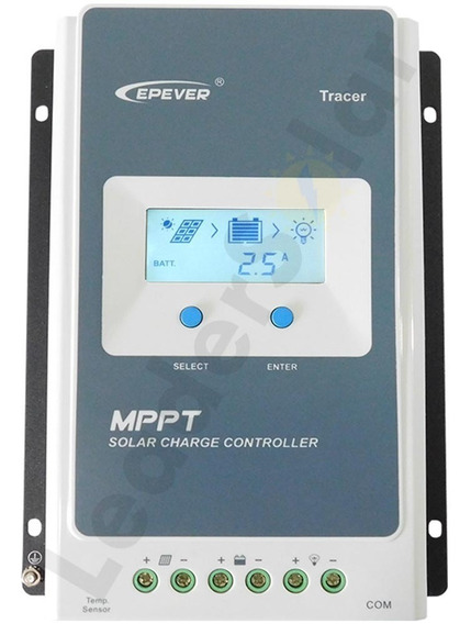 Controlador De Carga Solar Mppt 30a Epever Epsolar Tracer 3210an 12v E 24v Off Grid Novo Modelo Original