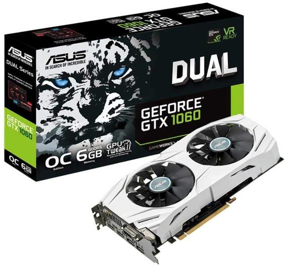 Placa De Video Asus Geforce Dual Gtx 1060 6gb Oc Gamer Gddr5