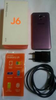 Celular Sansung Galaxy J6 32gb Tela Preta + Brinde