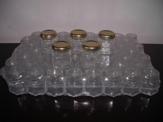 20 Frascos Vidrio 40cc Hexagonal Souvenirs Por Mayor Y Menor