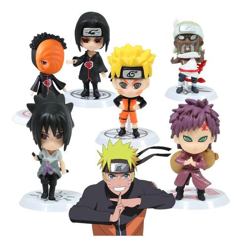 Naruto Shippuden Figura Coleccion Paquete 6 Piezas