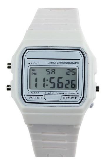 Reloj Deportivo Silicon Led Unisex Resistente Al Agua Slim