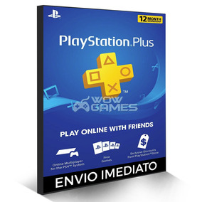 Cartão Psn Playstation Plus 12 Meses Usa Ps3 Ps4 - 1 Ano Us
