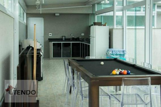 Cobertura 159 M² - 3 Dormitórios - 1 Suíte - Vila Alice - Santo André/sp - Co0033