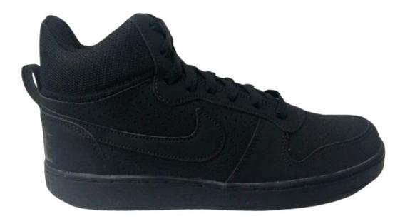 Tênis Nike Court Borough Mid Preto/preto Cano Alto Promoção