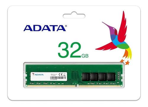Imagem 1 de 2 de Memória Adata Value 1x32gb 2666mhz Ad4u2666732g19-rgn