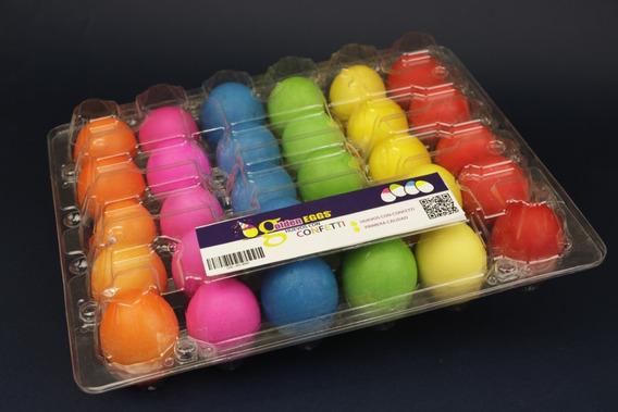 Estuche De 30 Huevos Con Confeti Con Envío - Golden Eggs