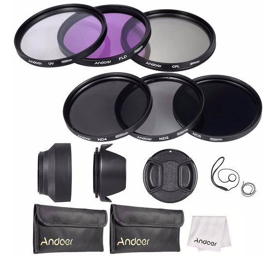 Kit Filtros 49mm Uv + Cpl + Fld + Nd (nd2 Nd4 Nd8) 50mm Stm