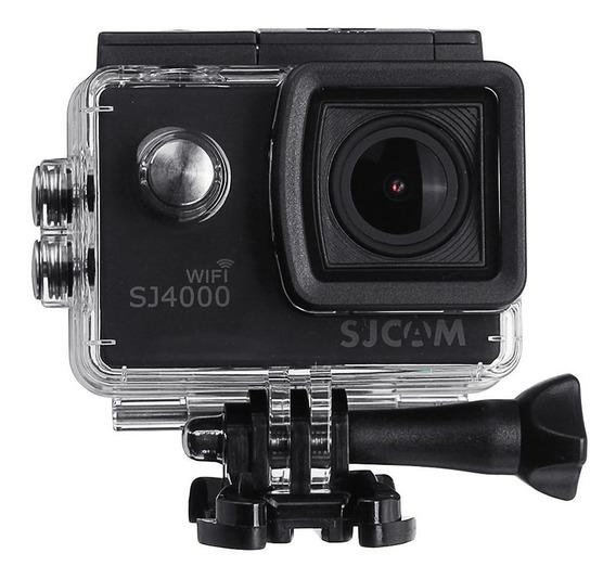 Sj4000 Wifi Sjcam Com Microfone Externo Capacete + Sd 16 Gb