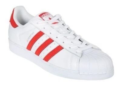 Zapatos adidas Supestar Franjas Rojas