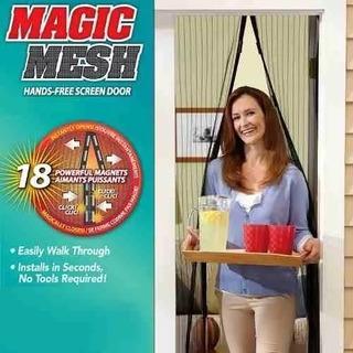 Kit 3 Cortinas Tela Anti Insetos Mosquito Magic Mesh Fecha