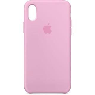 Carcasa Funda De Silicona Para iPhone X Rosa Claro