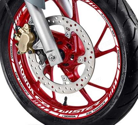 Friso Adesivo + Interno Roda M01 Moto Honda Cb 250 Twister
