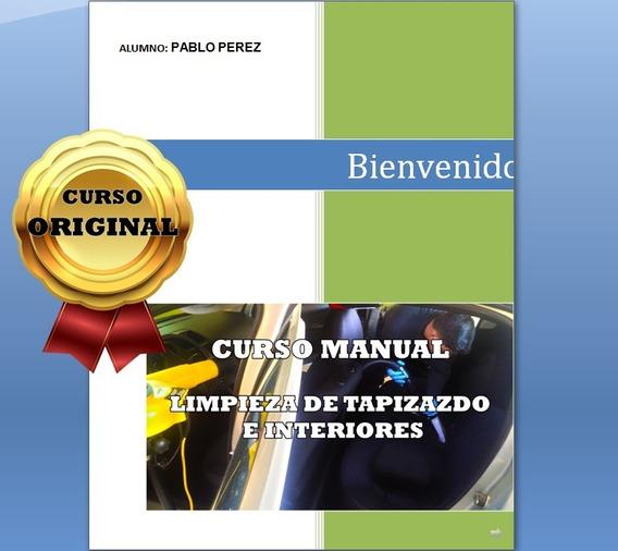 Curso Limpieza De Tapizado-manual Digital Con Fotosy Videos