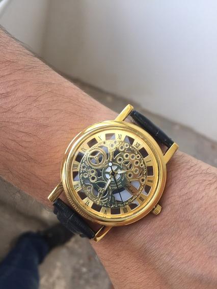 Relógio Masculino Social Pulso Quartzo Pulseira Preto