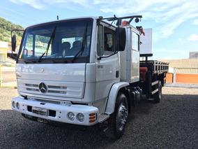 Caminhão Mb1718 C/ Munck Pkb15500 Madal + Cabine Tudo 2011