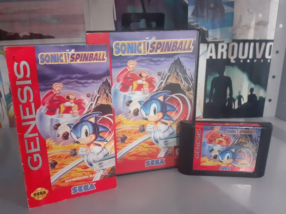 Sonic Spinball - Sega Genesis - Original Americano .