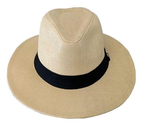 Chapéu Estilo Panamá Aba Larga Casual Praia Unissex