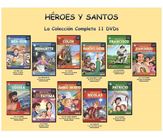 Héroes Y Santos - La Colección Completa 11 Dvds