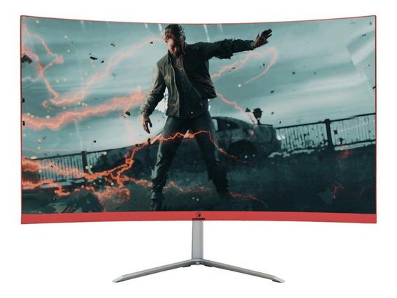 """Monitor curvo Concórdia C66 led 23.8"""" preto e vermelho 110V/220V"""