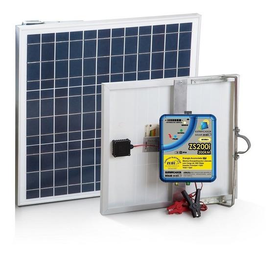 Novo Eletrificador Solar Cerca Rural Zs200i Zebu 10 Joules