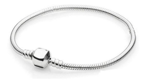 Pulseira Feminina Modelo Pandora Prata Pura ( Não É Banhada)