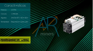 Asic C/fuente S9k 13,5th/s Antminer Bitmain Bitcoin Sha 256