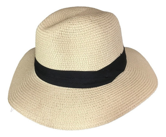 Sombrero Simil Rafia Estilo Panamá Ec 243 A B