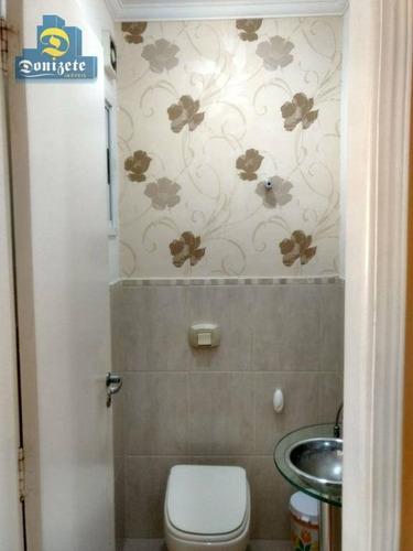 Sobrado Com 3 Dormitórios À Venda, 174 M² Por R$ 913.000,00 - Jardim Bela Vista - Santo André/sp - So1675